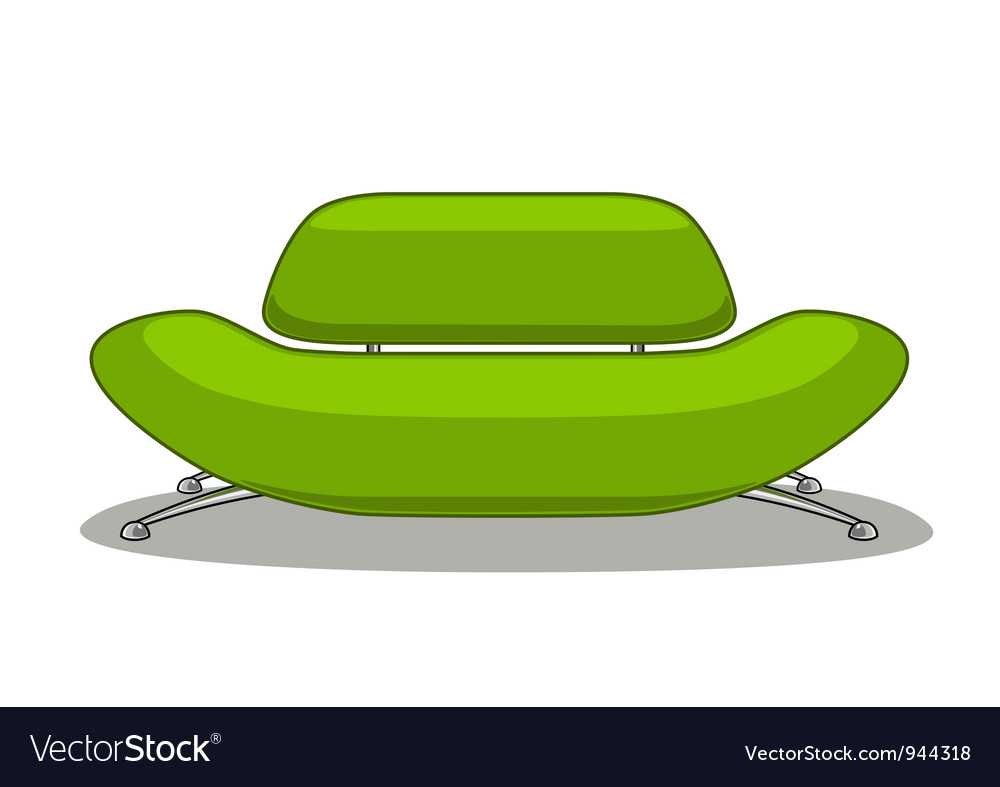 Green sofa Vector Image