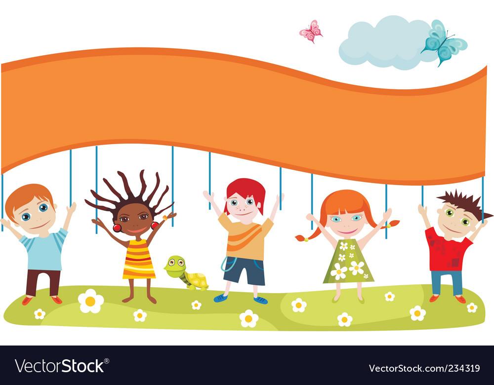 Children's card vector image