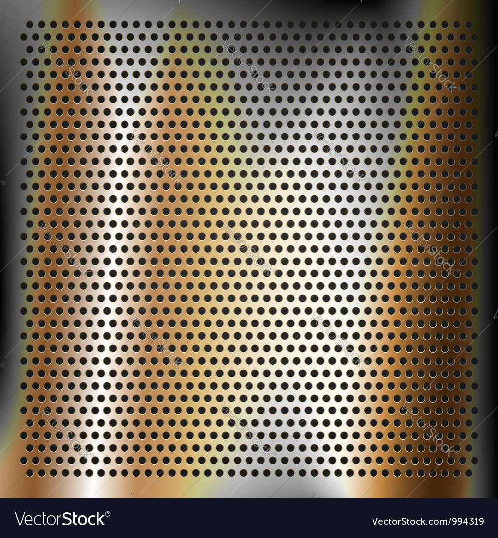 Chrome plated bronze sheet metal vector image