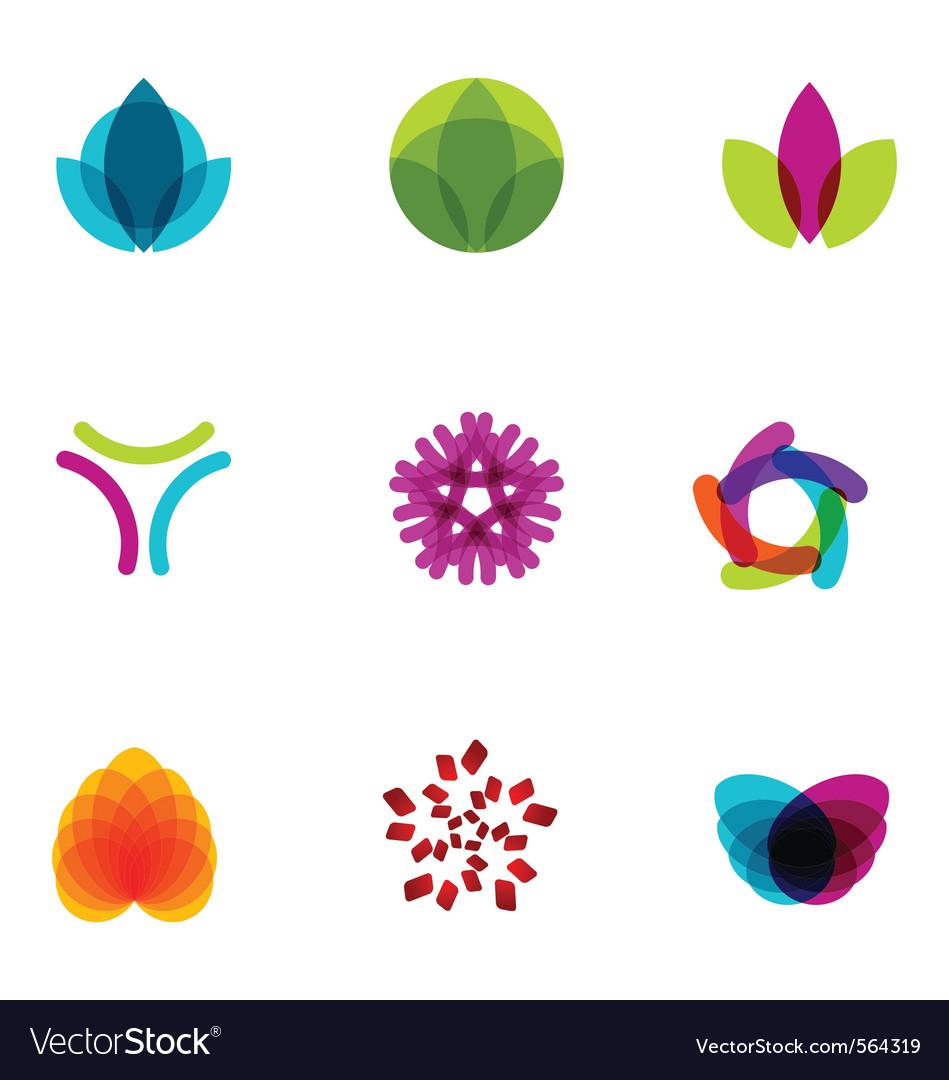 Logo design elements set 06 vector image