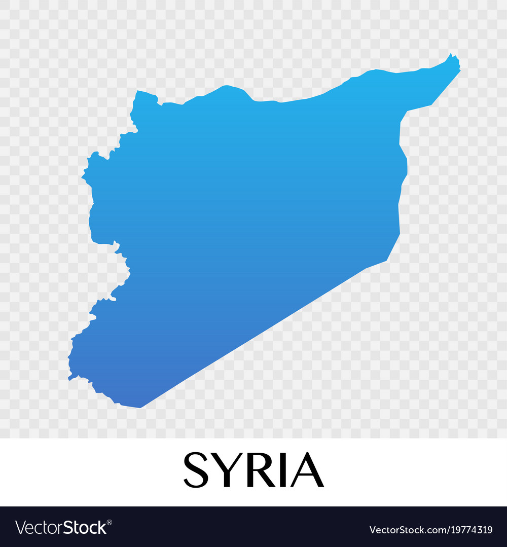 Syria Map In Asia Continent Design Royalty Free Vector Image - What continent is syria in
