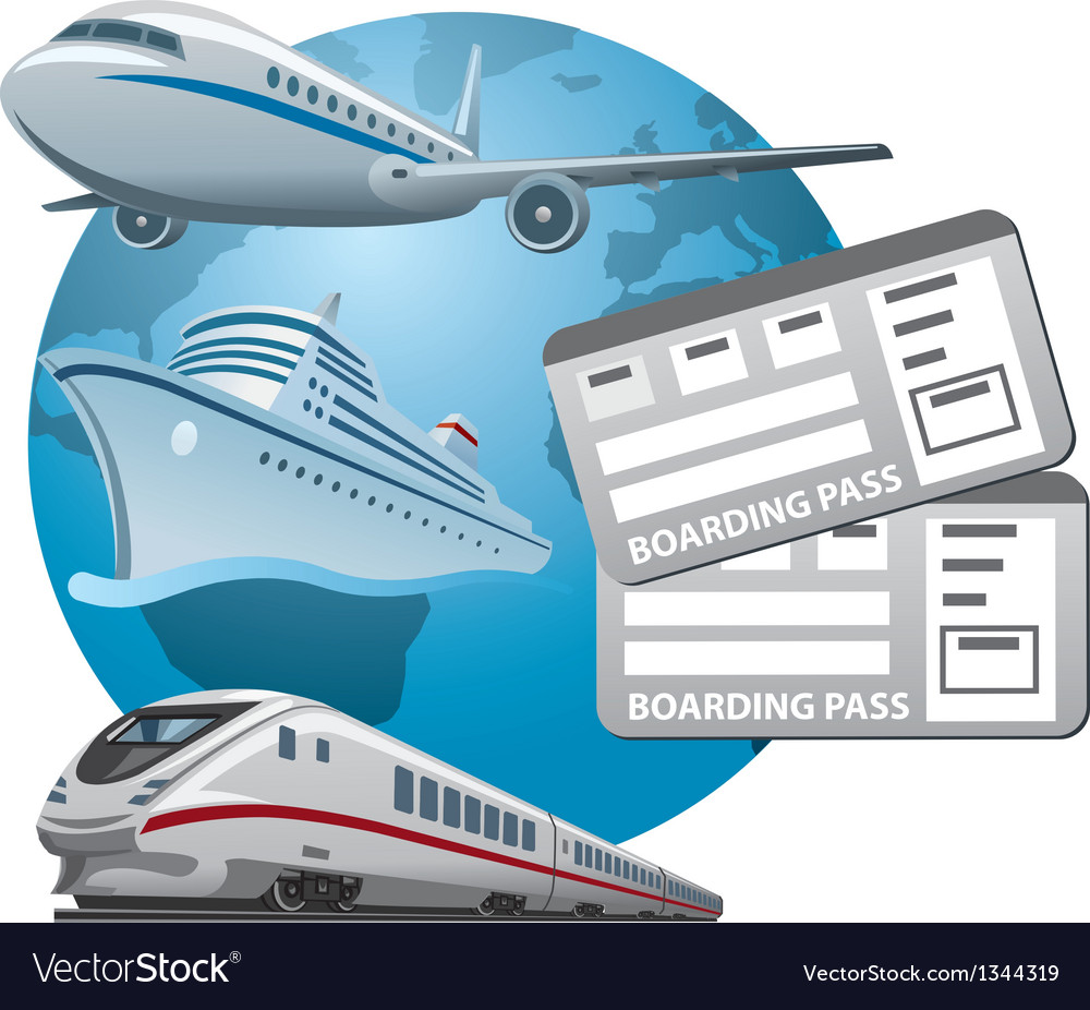 Travel tickets vector image