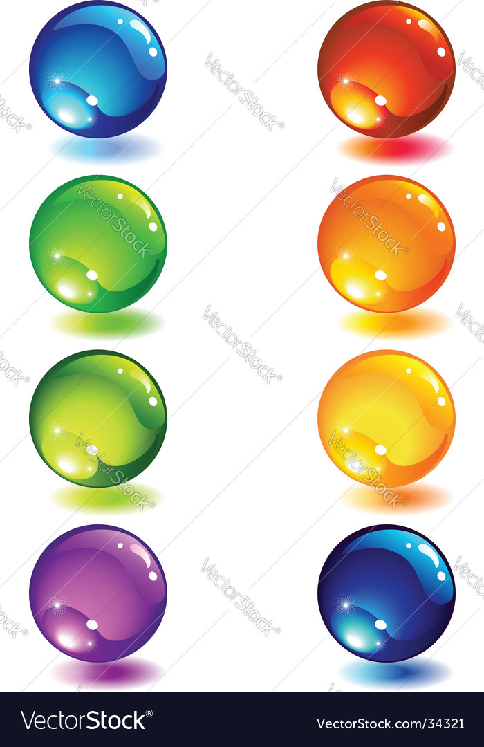 Glass button vector image