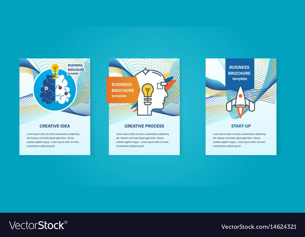 Creative ideas start-up thinking development vector image