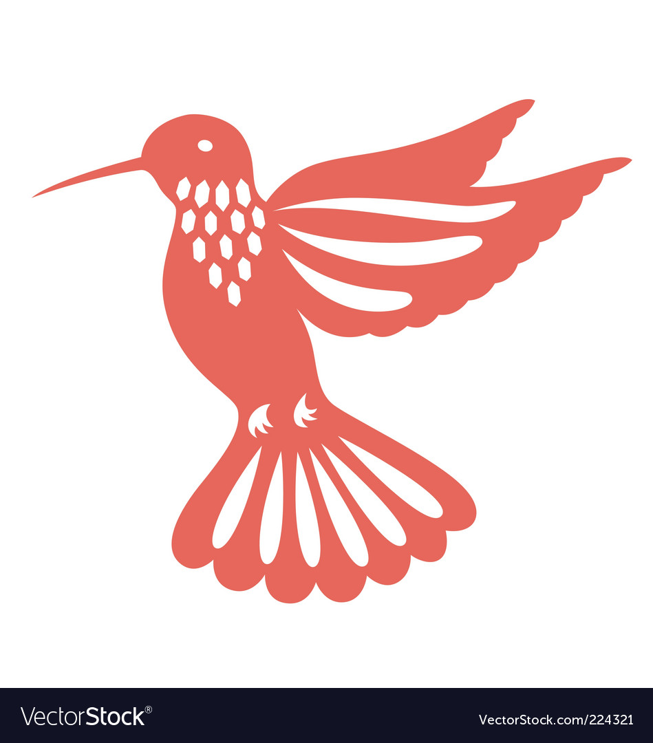 Decorative humming bird vector image