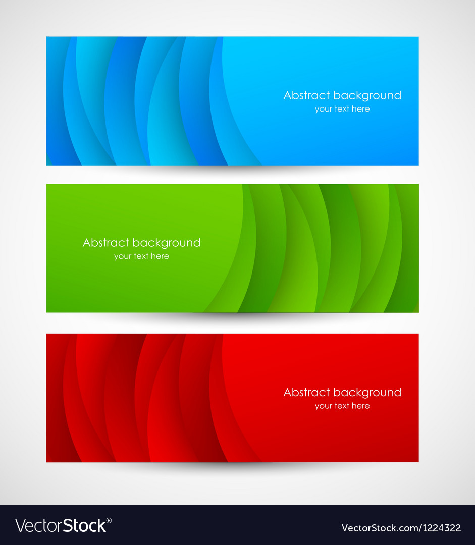 Set of abstract colorful banners vector image