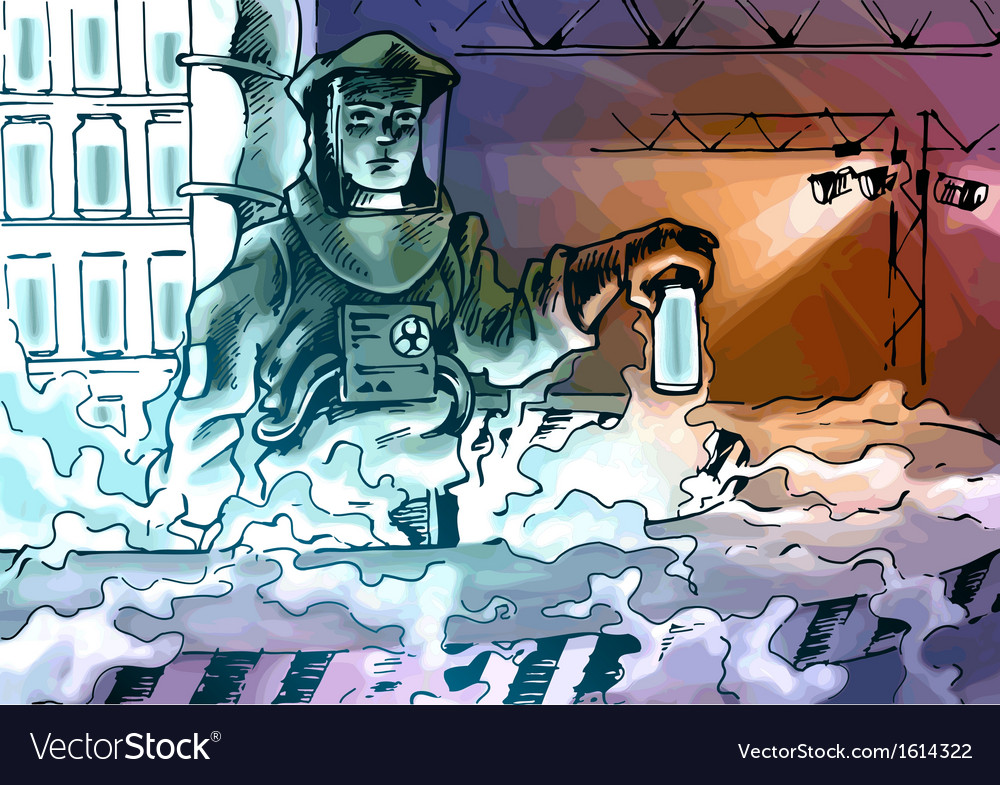 Working with the Toxic Substance vector image