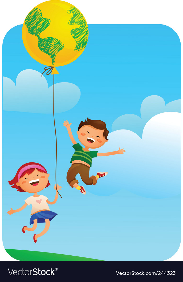 Children balloon vector image