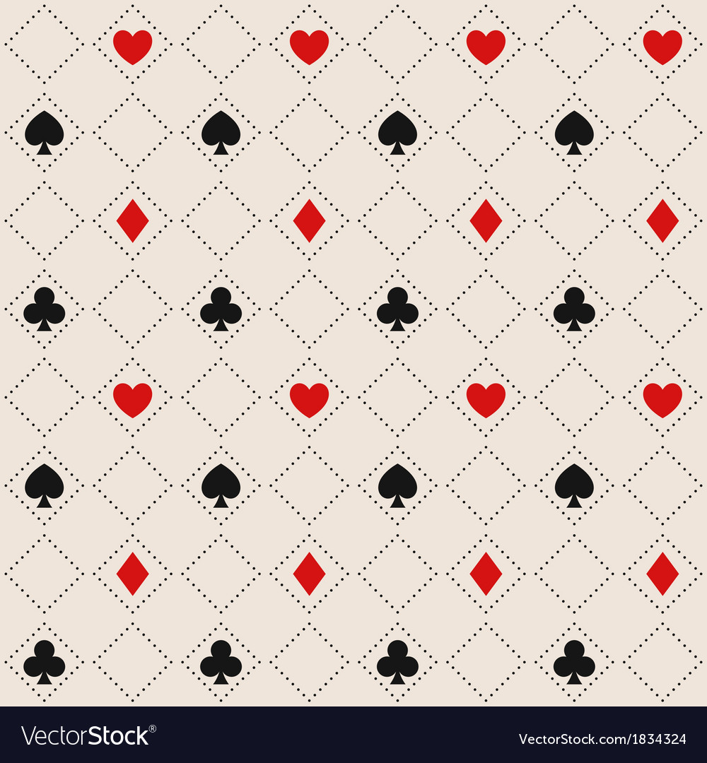 Seamless pattern with card suits vector image