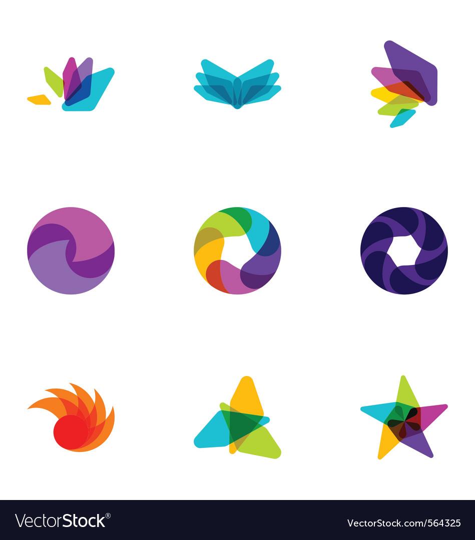 Logo design elements set 08 vector image