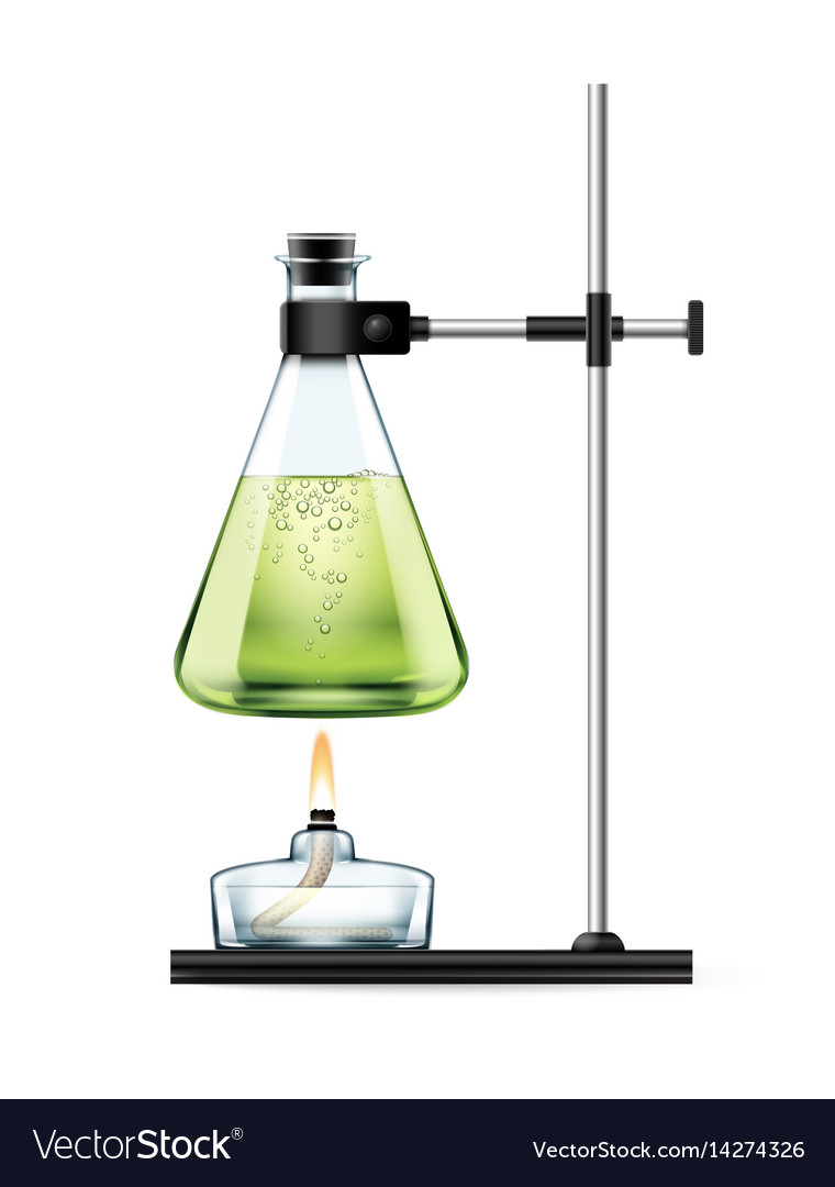 Chemical laboratory experiment vector image
