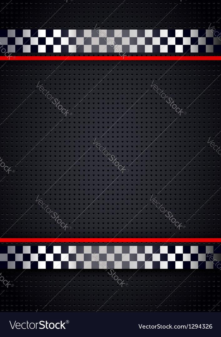 Racing background metallic perforated vector image