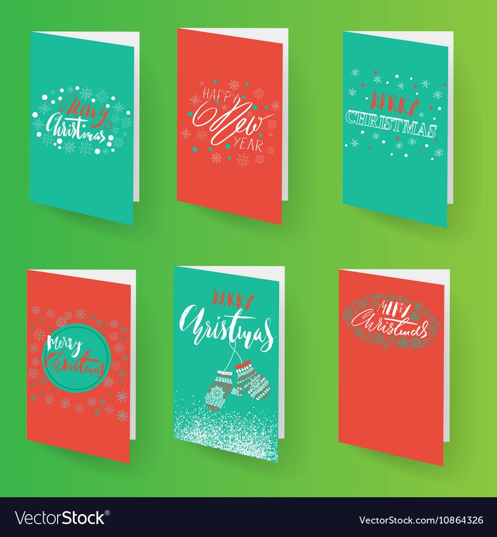 Set Of Christmas Brochures Templates Royalty Free Vector - Brochures templates