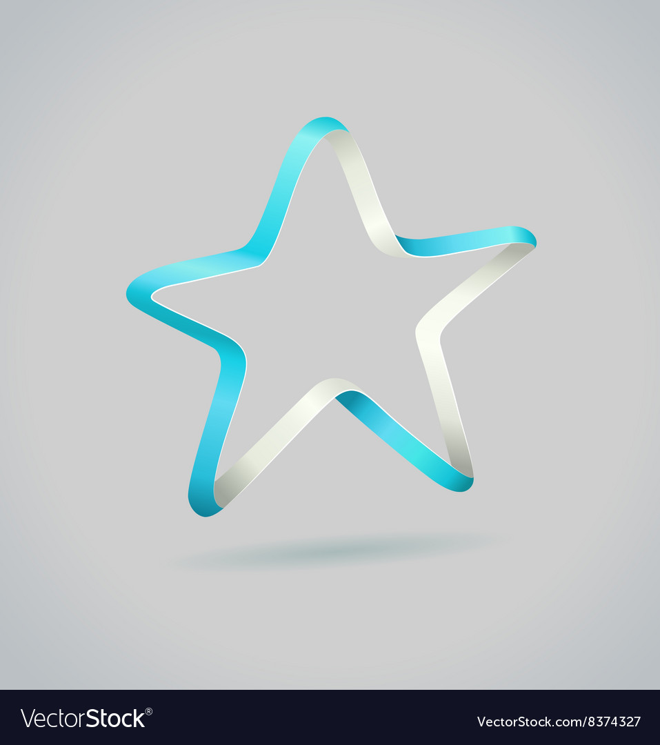 Infinite ribbon five star template vector image