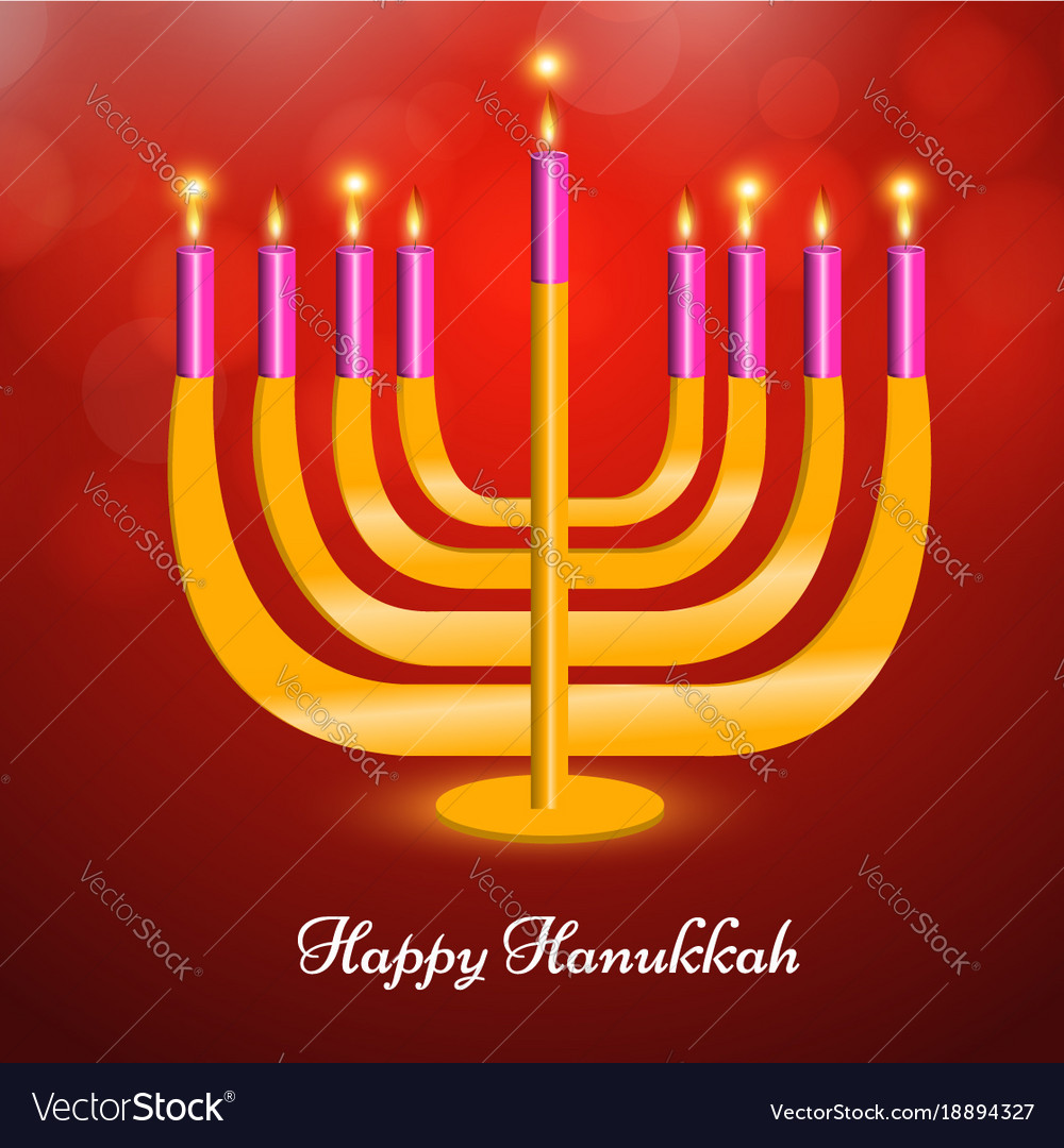Jewish Holiday Hanukkah Background Royalty Free Vector Image