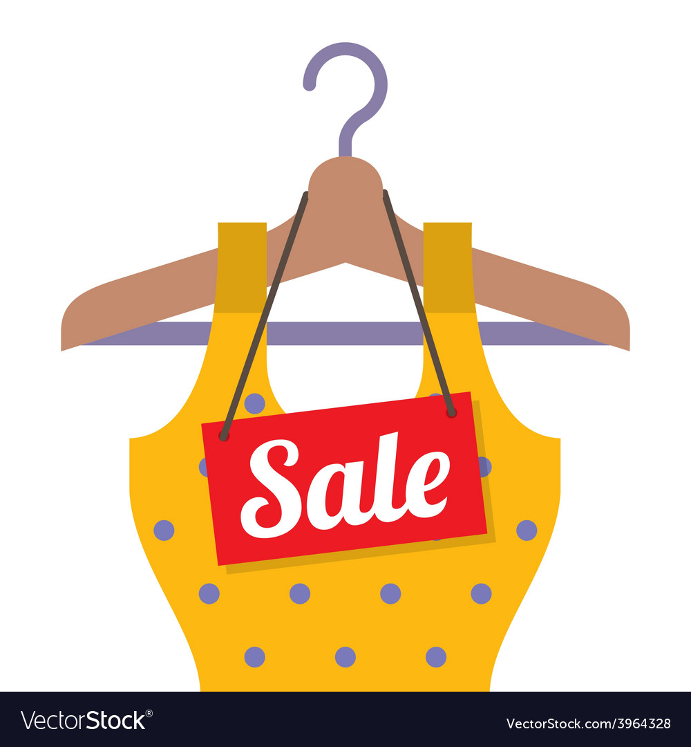 Woman Clothes On Hanger With Sale Tag vector image