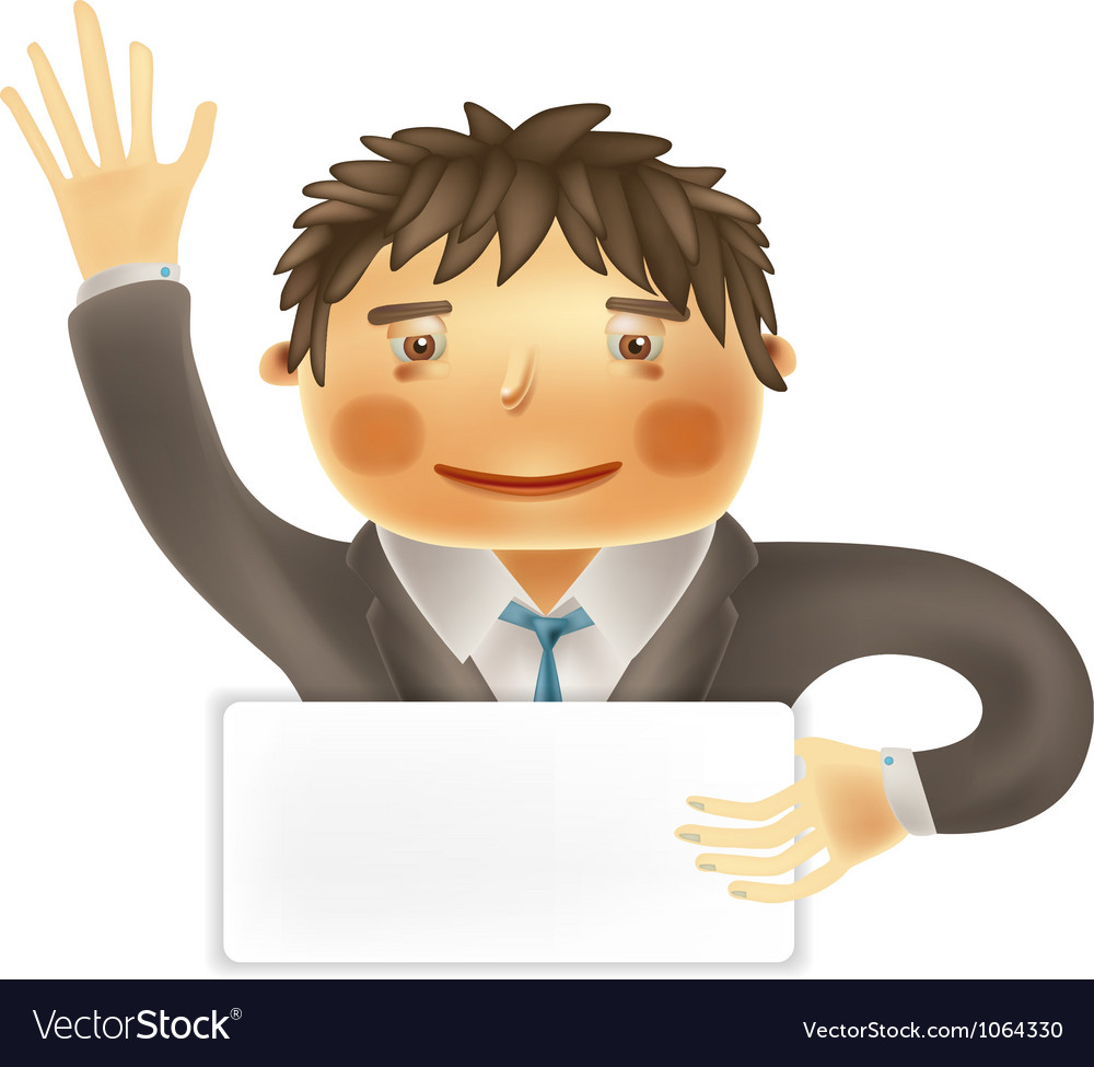 Funny worker for use in presentations etc vector image