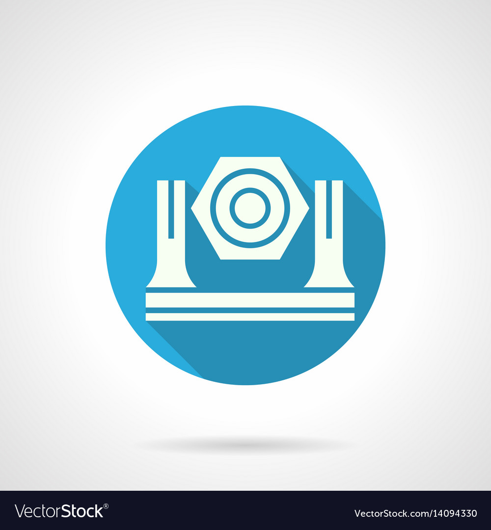 Stage light equipment blue round icon vector image