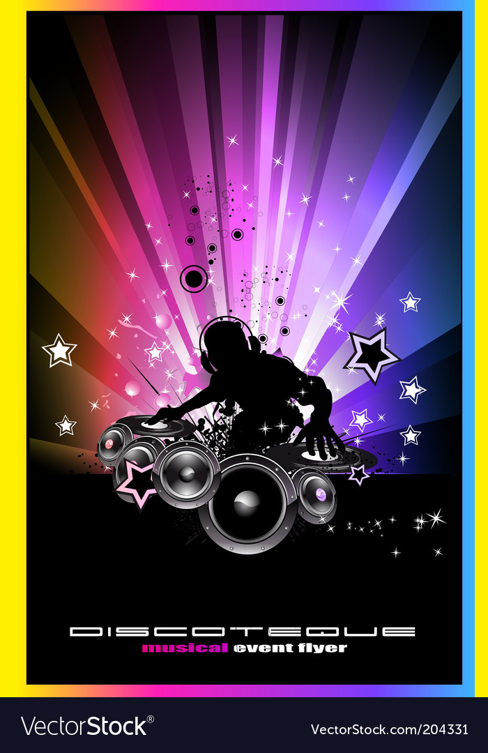 Discotheque Dj flyers vector image