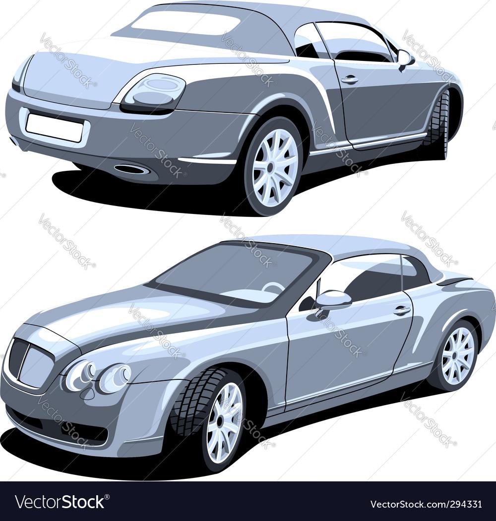 Luxury car gray vector image