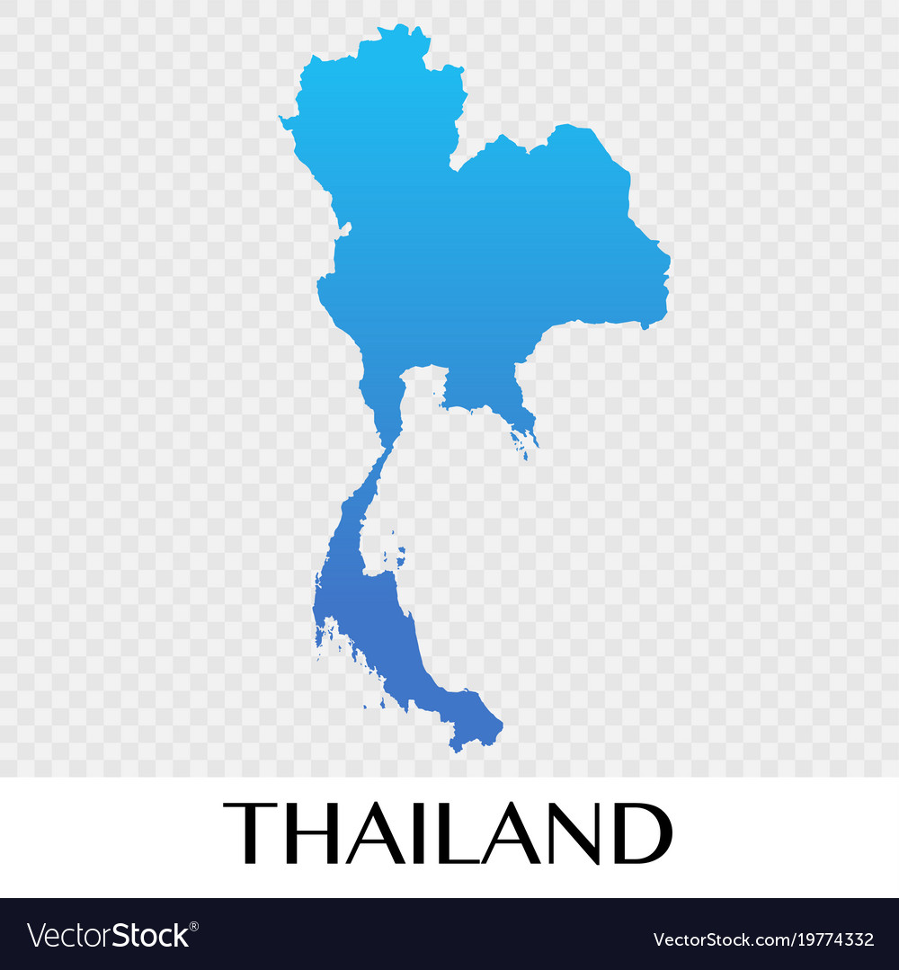 Thailand Map In Asia Continent Design Royalty Free Vector - Thailand map