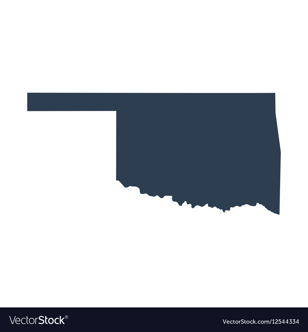 Map of the US state Oklahoma Royalty Free Vector Image