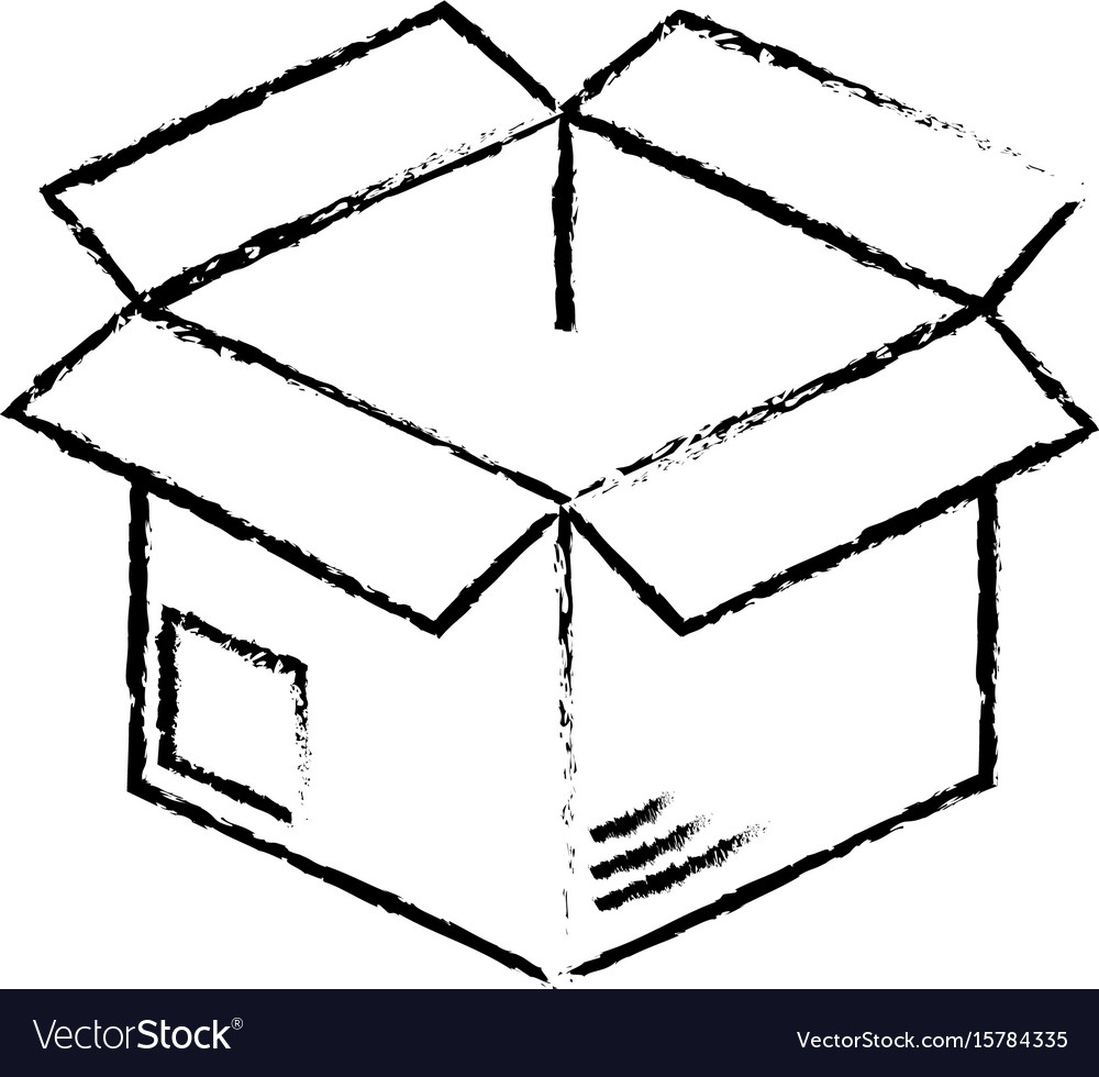 Figure open box to delivery innovation vector image