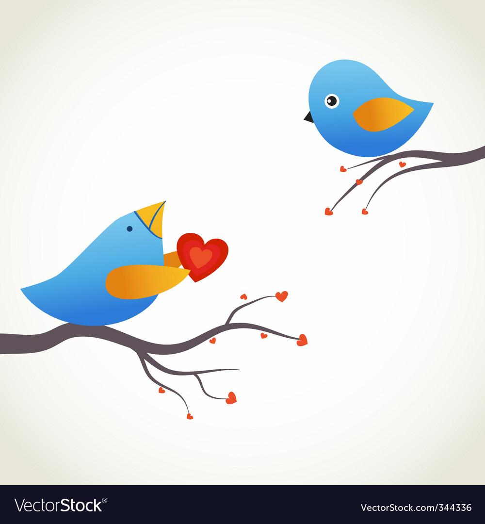 Blue birds vector image
