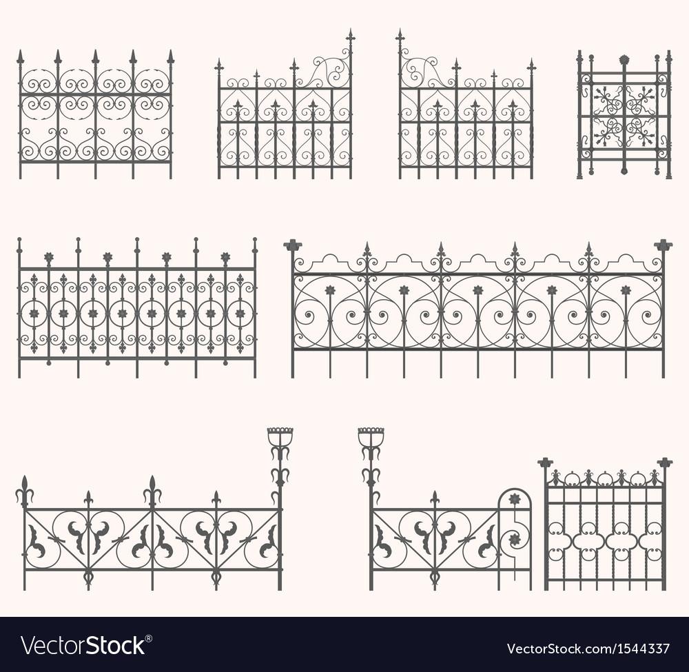 Antique fences - second set vector image