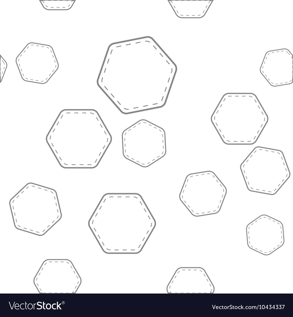 Seamless pattern with hexagons vector image