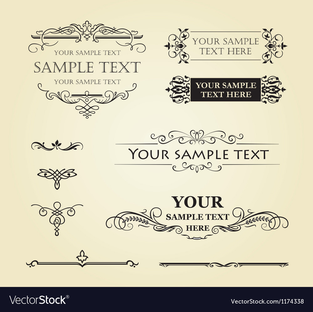 Calligraphic vintage decor vector image