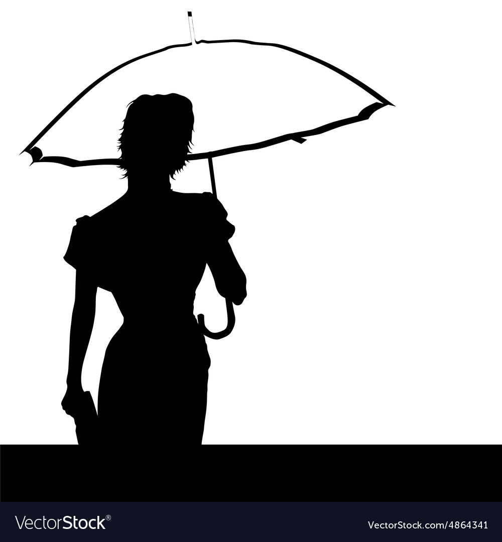 Lady with umbrella vector image