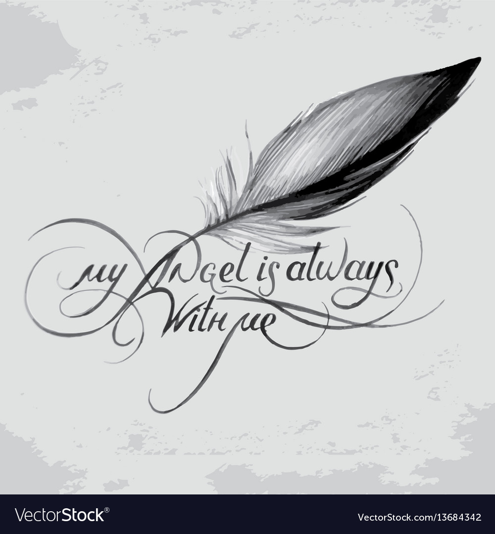 My angel is always with me 6 vector image