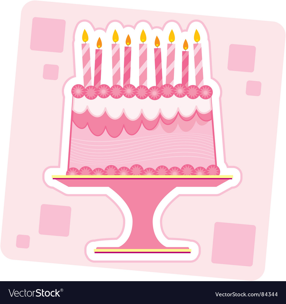 Birthday cake illustration vector image