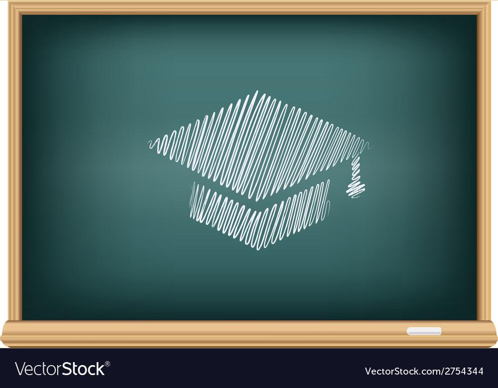 Board academic cap vector image