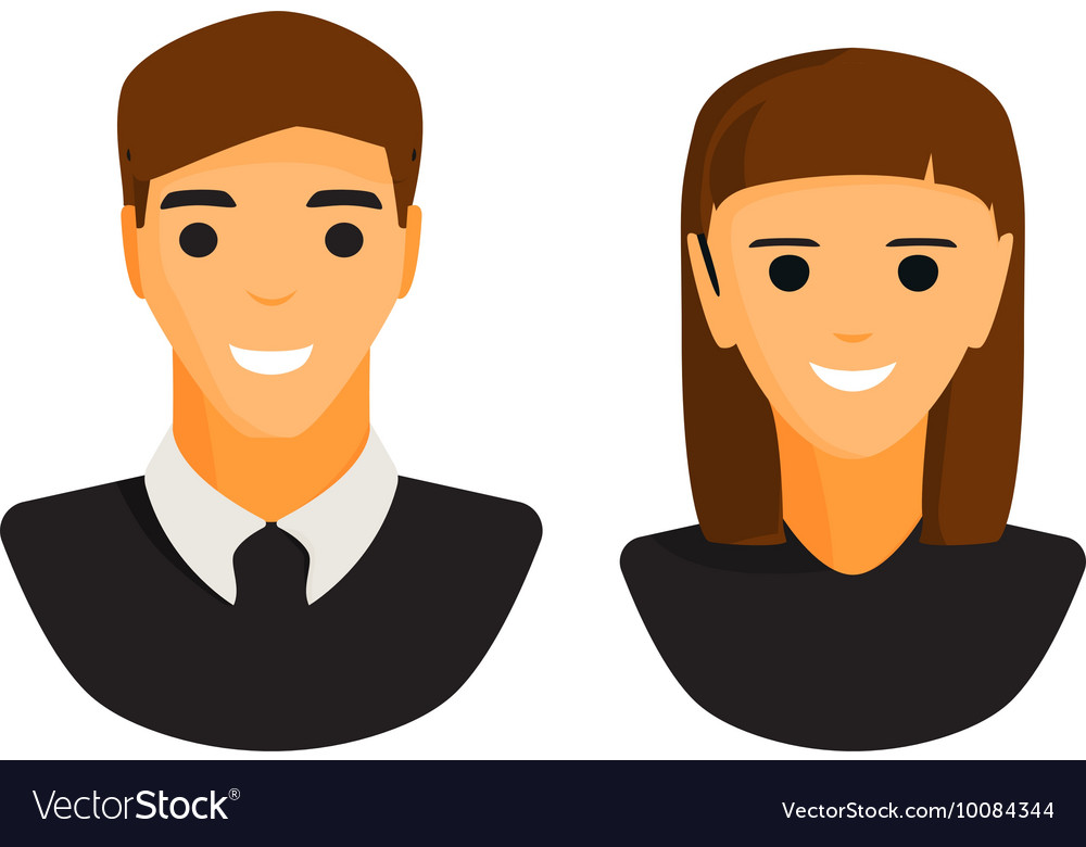 Man and woman silhouette icon vector image
