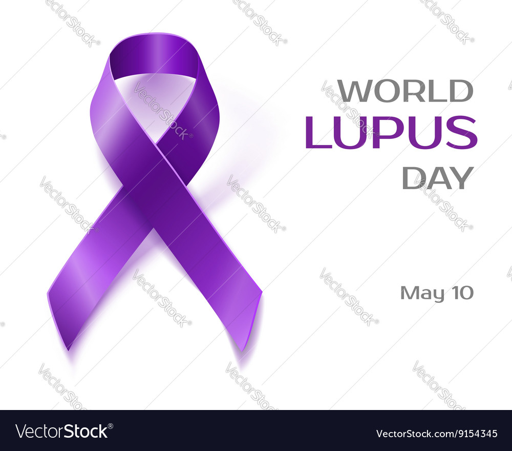 Purple lupus awareness ribbon isolated on white vector image biocorpaavc Image collections