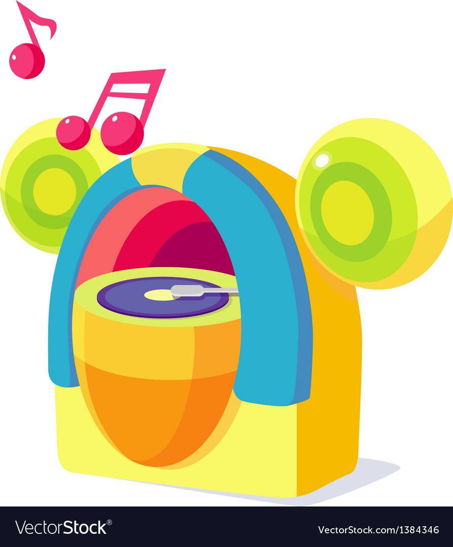 Icon music box vector image
