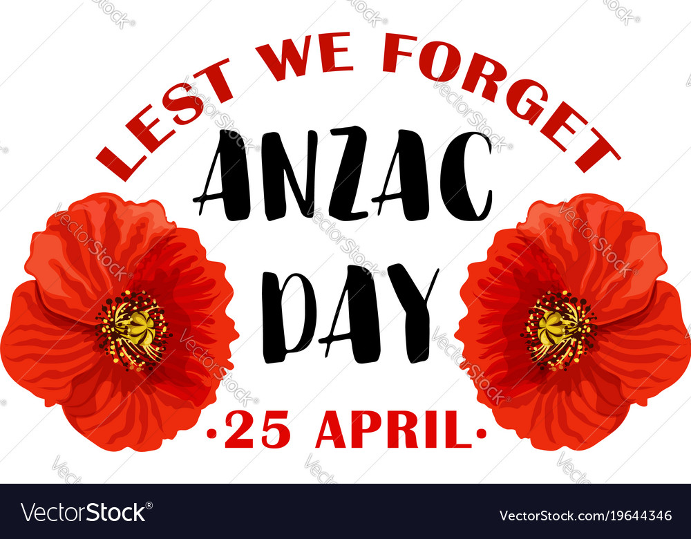 Red poppy flower symbol of anzac remembrance day vector image mightylinksfo Image collections