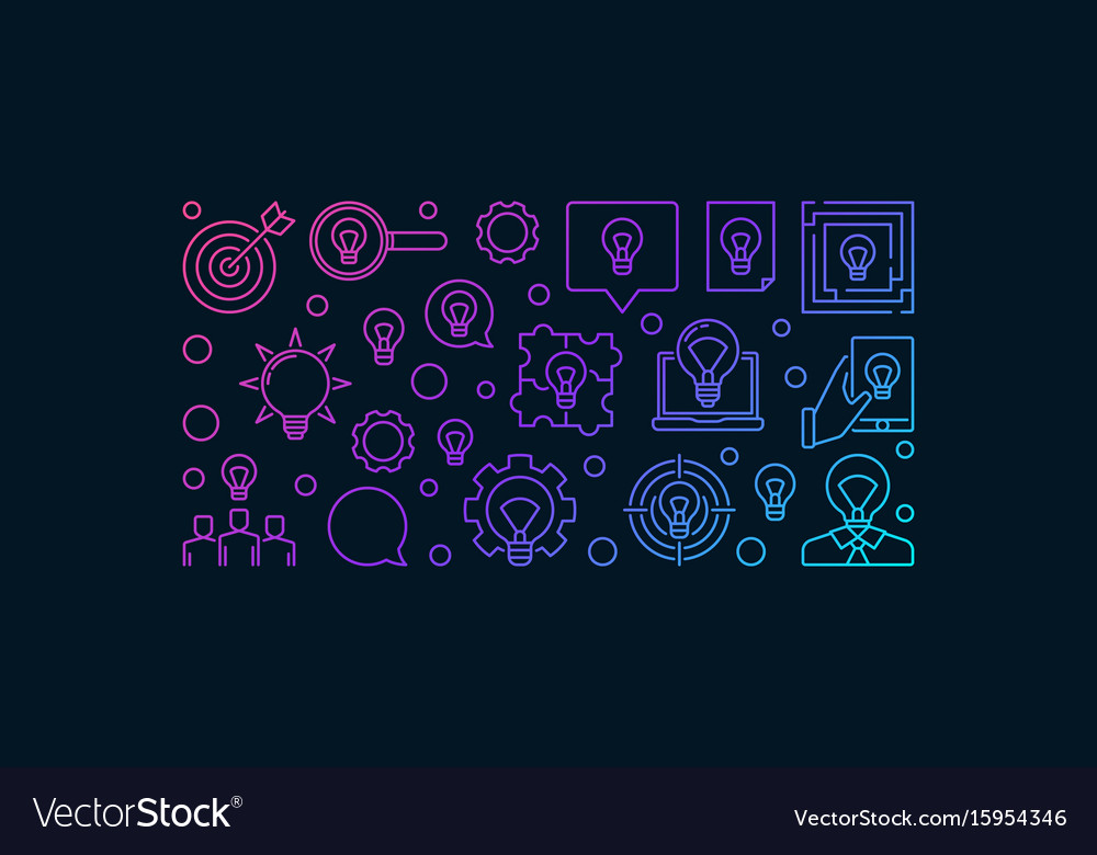 Solution and idea modern banner design vector image