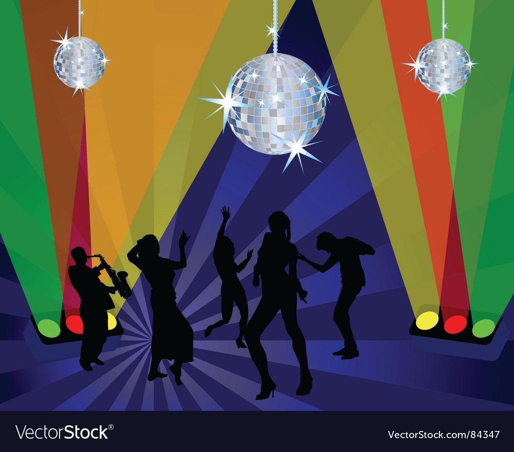 Nightclub dancers Vector Image