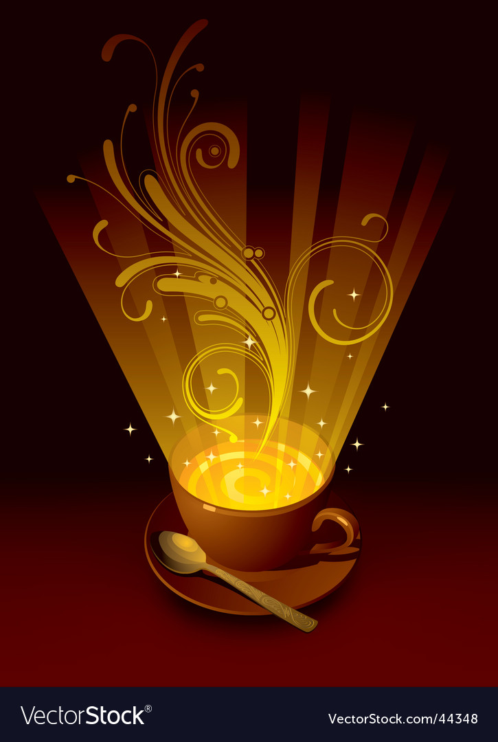 Magic cup vector image