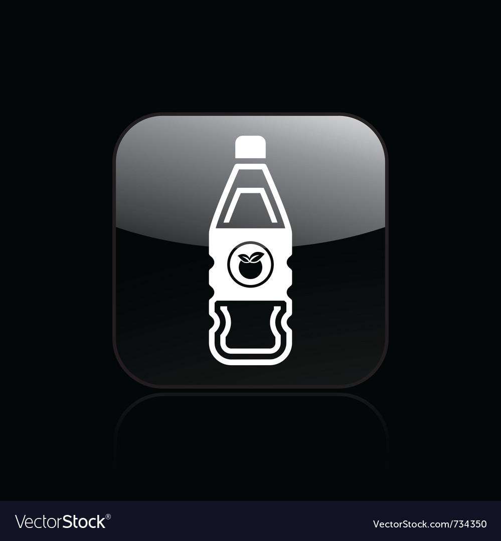 Fruit juice bottle icon vector image