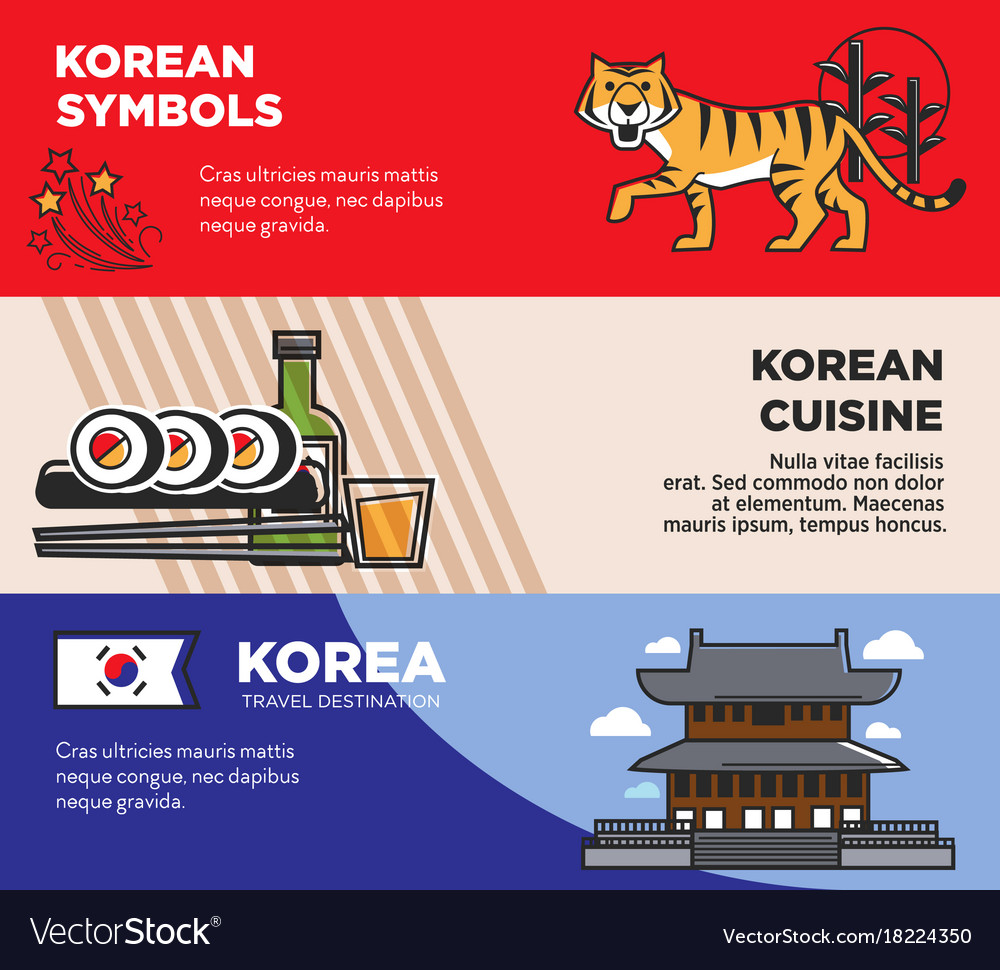 Korea travel famous landmarks and korean culture vector image biocorpaavc Image collections