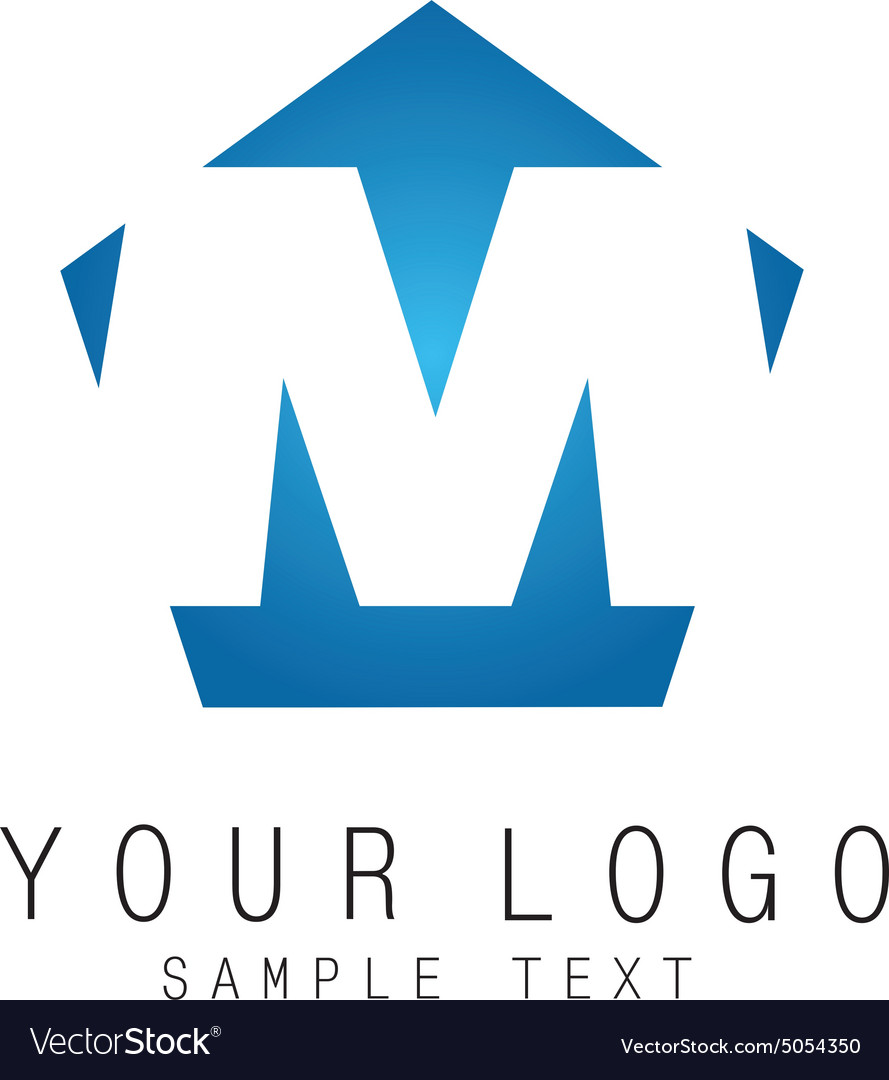 M-sign vector image