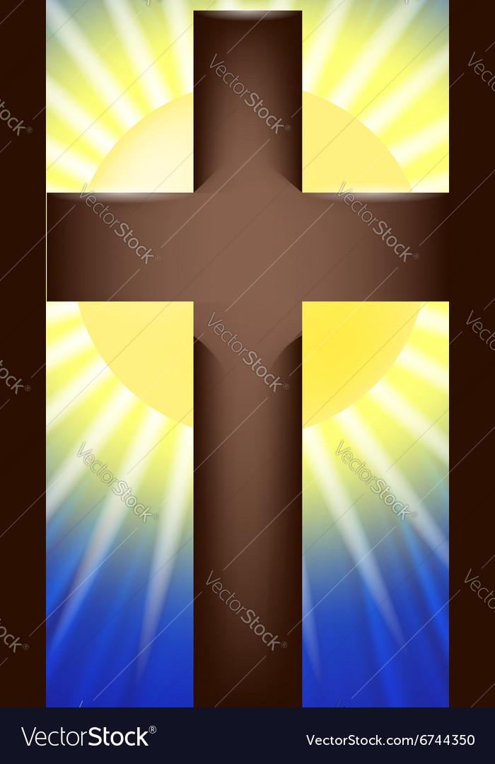 Shining Cross Background vector image