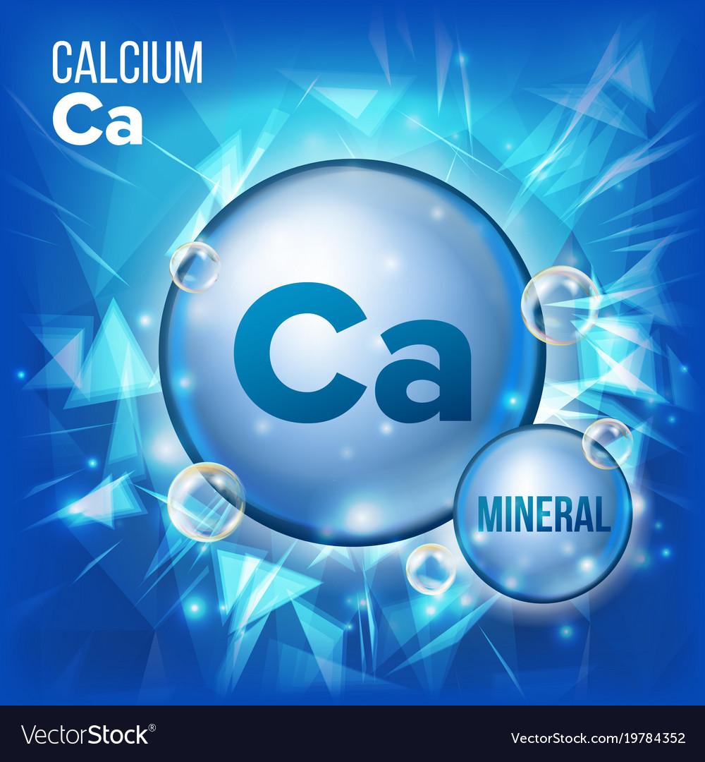 Ca calcium mineral blue pill icon vitamin vector image biocorpaavc Image collections