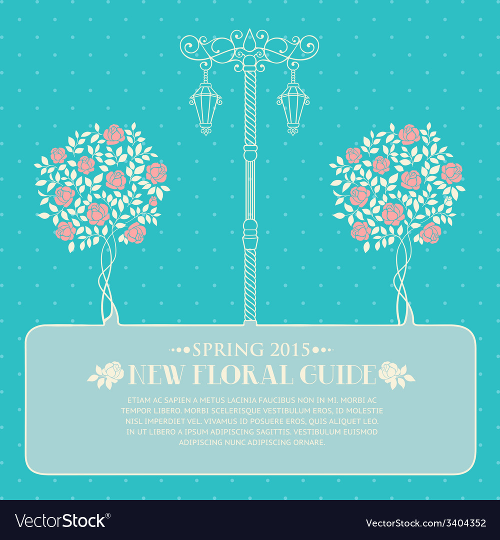 Roses with street light vector image