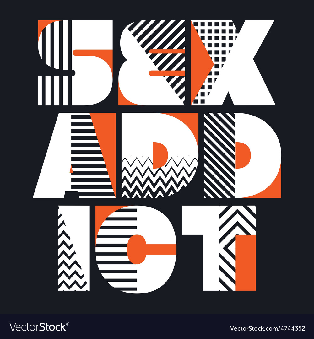 Sex Addict T-shirt Typography vector image