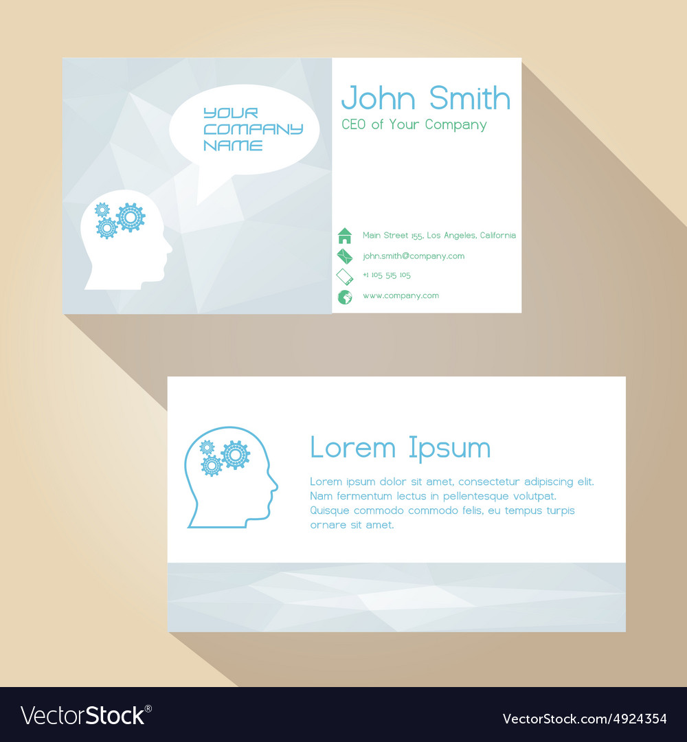 Light color white simple business card design vector image light color white simple business card design vector image magicingreecefo Images